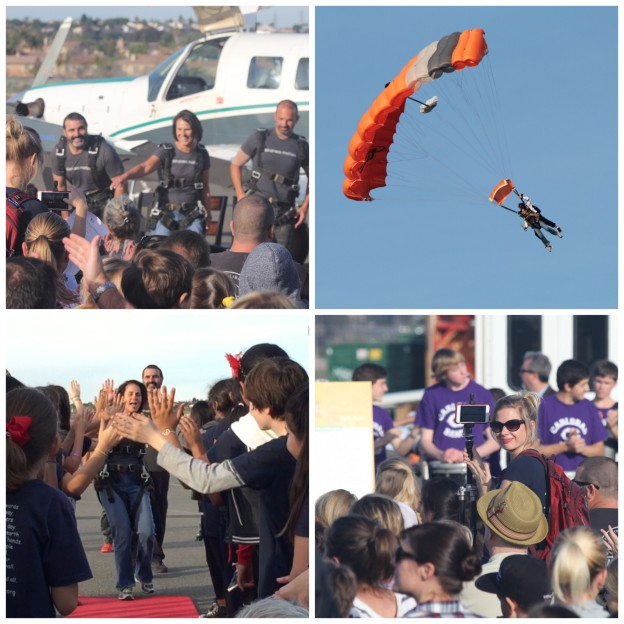 Carlsbad's superintendent and two principals kicked off The Great Kindness Challenge by jumping out of an airplane!
