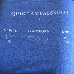 Quiet Schools Network t-shirt, which I'll be wearing with pride!