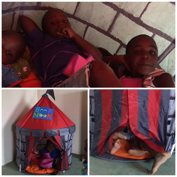 Cozy book nooks were a hit at the Kids for Peace School of Kenya!